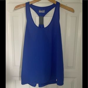 Under armour royal blue mesh tank